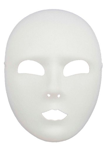 Morris Costumes Halloween Party Full Face White (Batgirl Halloween Face)