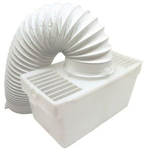 White Knight Universal Tumble Dryer Indoor Condenser Vent Kit Box With Hose by Lazer Electrics
