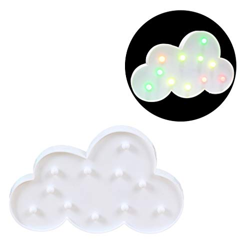 Fullfun Lovely Cloud LED 3D Night Light Kids Gift Toy for Baby Children Bedroom Decoration Lamp Indoor Lighting (Multicolor) (Bedroom Lamps Discount)
