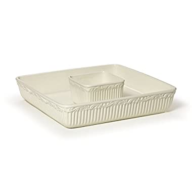Mikasa Italian Countryside Square Chip And Dip, 12-Inch