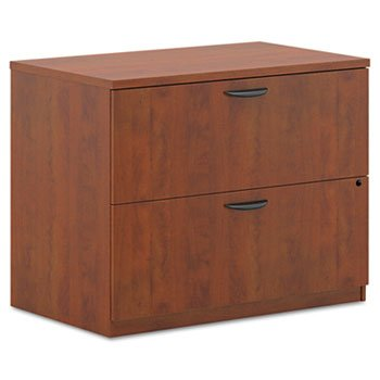 BL Laminate Two-Drawer Lateral File, 35-3/4w x 22d x 29h, Medium Cherry