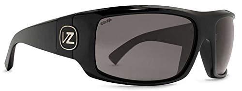 (Von Zipper Clutch Wildlife Polarized Sunglasses-Black Gloss-Vintage Grey)