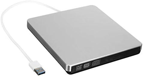 光学ドライブ DVDプレーヤードライブラップトップ、デスクトップコンピュータのUSB 3.0外付けDVD CD-RWドライブを焼きます 静音 高速 軽量 コンパクト スリム (Color : Silver, Size : One size)