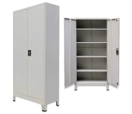 Amazon Vidaxl Office Filing Cabinet Locker 2 Door Steel File