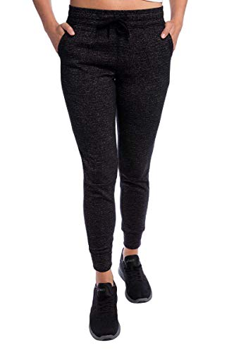 (Champion Ladies' French Terry Jogger (Black Stripe, Small))