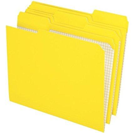 Pendaflex 1/3 Cut Reinforced-Top File Folders, 100 per Box, Yellow 2-Pack