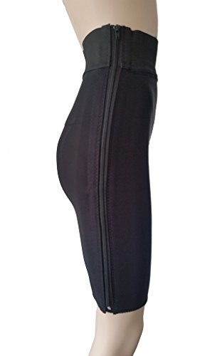 Compression Garment, Above the Knee (XXL Black) (Hip Meas...