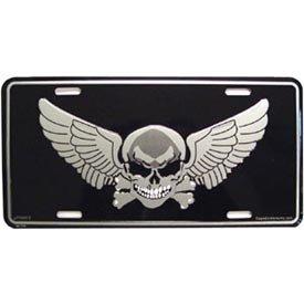 Skull Crossbones Wings - US Military & Patriotic License Plate - Skull, Crossbones, Wings