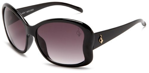 baby phat Women's 2050 Round Sunglasses,Black Frame/Black Lens,one - Oversized 2010 Sunglasses