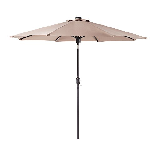 Backyard Classics 9-Foot Umbrella with Bluetooth Speaker and LED Lights