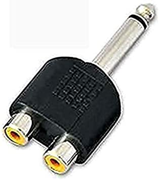 "2 Pack Lot 1//4/"" Male Stereo Plug to 1//4/"" 6.35mm Mono Female Jack Audio Adapter"