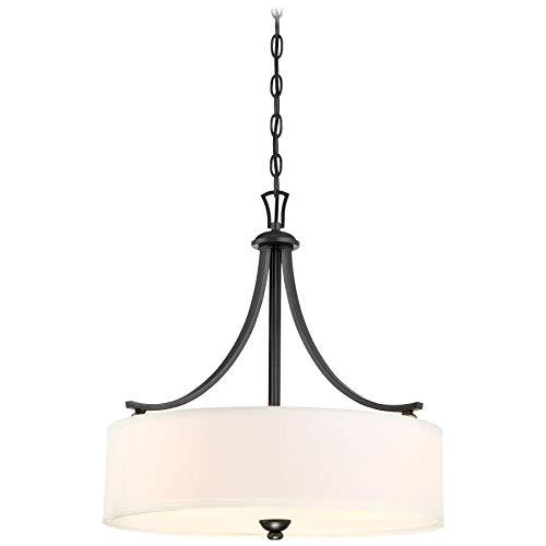 Minka Lavery Ceiling Pendant Chandelier Lighting 3287-589 Shadowglen, 3-Light Fixture 300 Watts, Lathan Bronze