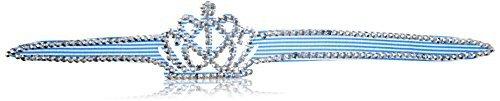 Forma eDealMax plstico Corona Cristal Decor ARO del Pelo, Azul, 0,02 la Libra