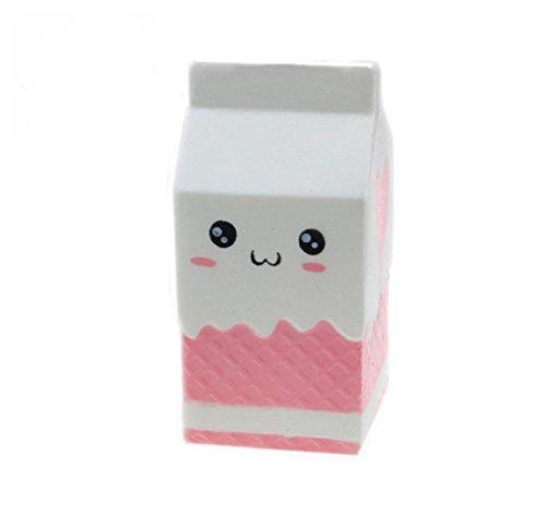 Sundarling Slow Rising Squishy Soft Kawaii Toys Milk Box Cream Scented Hand Wrist Toy Random