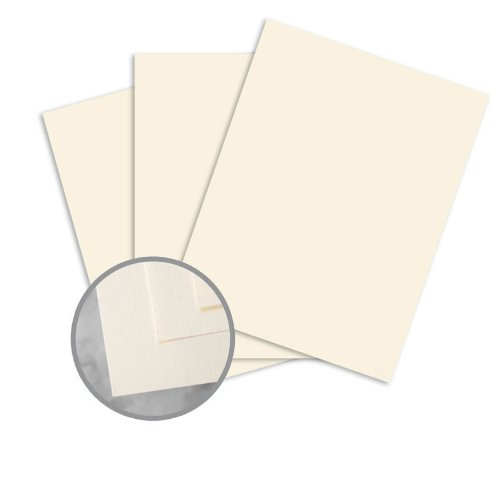 (CLASSIC Linen Classic Natural White Card Stock - 8 1/2 x 11 in 100 lb Cover Linen 250 per Package)