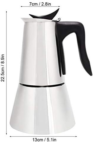 Bospyaf Acier Inoxydable 304 de Pot de Moka électrique Domestique pour empêcher la Machine à Expresso à Combustion sèche