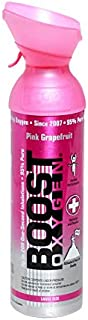 product image for Boost Oxygen Supplemental Oxygen to Go | All-Natural Respiratory Support for Health, Wellness, Performance, Recovery and Altitude (10 Liter Canister, 2 Pack, Pink Grapefruit)