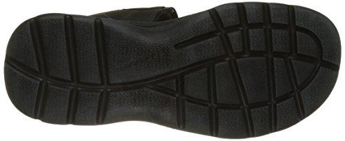 Velcro Get Sandali Rockport Caviglia alla con Your Kicks Uomo Nero Cinturino Leather Double Black H1wdqxIXd