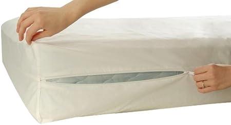 Allersoft Prot/ège-Matelas en Coton Anti-acariens et punaises de lit 90 x 200 x 25 cm