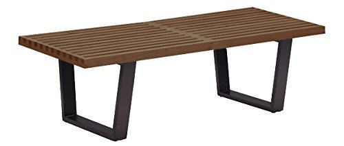 George Nelson Coffee Table - Nicer Furniture ™ George Nelson Platform Bench 4 feet with Hardwood Top, Walnut Finish