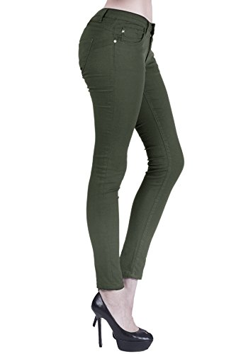 naafii Womens Butt Lift Hyper Stretch Super Comfy Skinny Pants Green