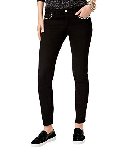 - MICHAEL Michael Kors Womens Izzy Studded Classic Rise Skinny Jeans Black 6