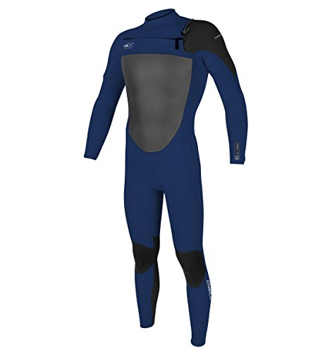 O'Neill Wetsuits Mens 4/3 mm Superfreak F.U.Z.E. Zip Full Suit, Navy/Black, Medium Tall