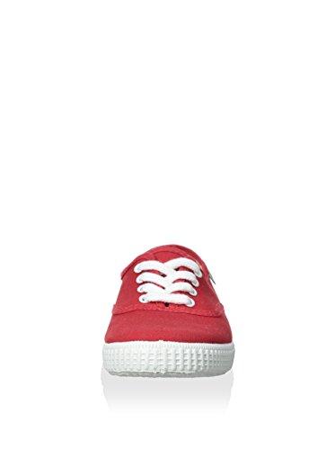 Natural World Mädchen Ingles Liso Sneaker Rot