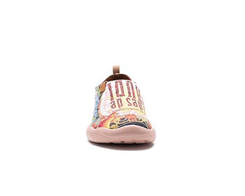 UIN Taudes de Gaudi Chaussures bateau de toiles peintes multicolore pour femme