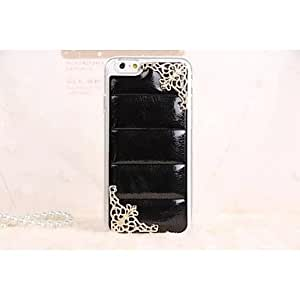 Leather Style Design Lace PC Pattern Hard Case for iPhone 6 plus