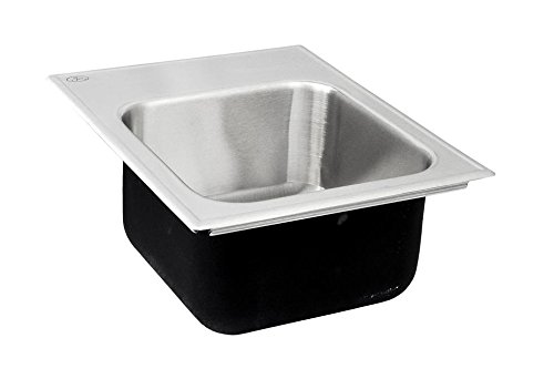 Just SL-1815-A-GR-3 Single Bowl 18-Gauge T-304 Stainless Steel Commercial Grade Drop In Sink ()