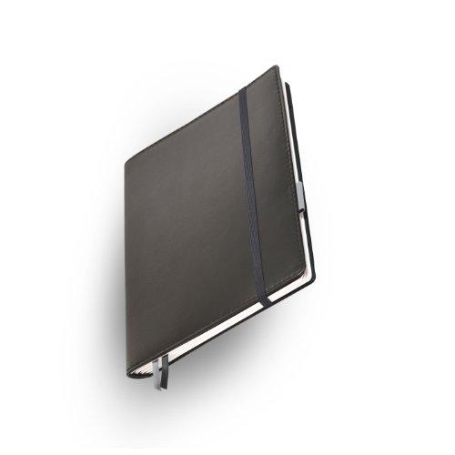 Whitebook Premium P003w-SL, modulares Notizbuch, Nappaleder, rahmengenäht, schwarz, 240 S. Papier FSC (iPad Air & Samsung Galaxy 10.1 2014 integrierbar, Inhaltshefte nachfüllbar)