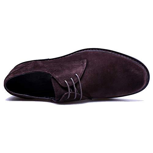 Scarpe Lavoro da Britannico Casual Moda Stile Affari Ginnastica NIUMT Scarpe Brown Scarpe da Scarpe Stringate Basse Grandi Bq1B5T