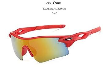 CHEYENNE bicicleta polarizadas Gafas ciclismo deportes gafas gafas de sol Gafas de protección UV400, Unisex, red frame 2: Amazon.es: Deportes y aire libre