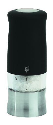 Peugeot 22570 Zephir Electric Soft Touch Salt Mill, Black