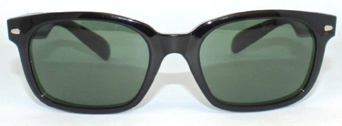 New+Case 320$ Vuarnet 080 Small Shiny Black Wayfarer Sunglasses Px3000 Lenses