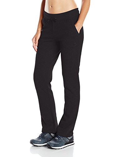 Champion Women's Fleece Open Bottom Pant, Black, Large