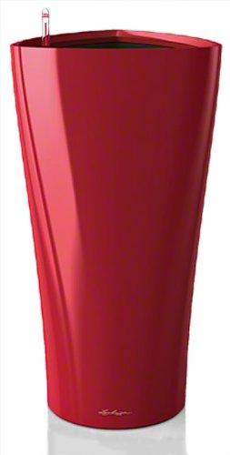 Lechuza Premiuim Delta 4075cm hoch Hochglanz Scarlet Rot Selbstwässernder Blumentopf,