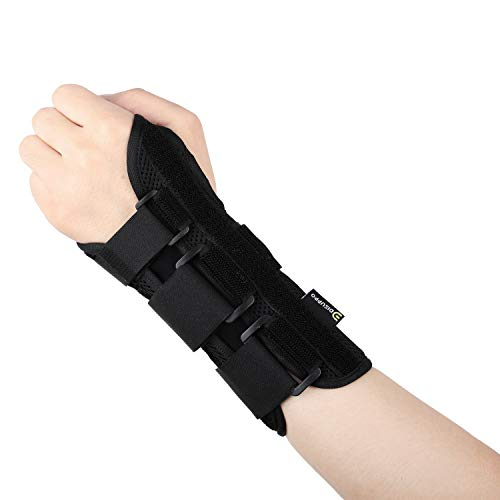 (Arthritis Compression Gloves Fitness Gloves Relieve Pain from Rheumatoid, RSI,Carpal Tunnel, Hand Gloves Fingerless for Computer Typing and Dailywork, Support for Hands and Joints (Wrist Brace, L))