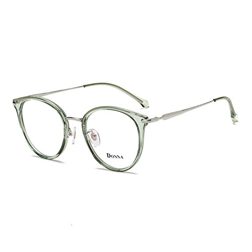 bba2fc3ce599 Donna Vintage Fashion Eyeglass Round Frame Unisex Computer Reading Glasses  DN48-EEB by DONNA