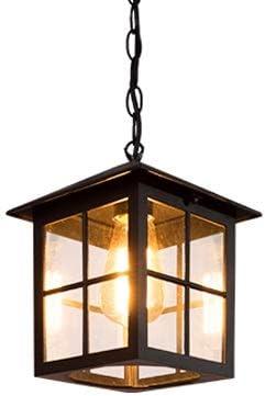 Modenny Retro Cadena colgante ajustable Colgante de techo Luces industriales Vintage Aluminio Vidrio Pantalla Lámparas de araña Lámpara Impermeable IP65 Aplique Exterior Linternas para patio Jardín Co: Amazon.es: Hogar