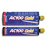 Powers AC100+ Gold Two-Component Vinylester Adhesive Anchoring System, 10 oz. Quick-Shot Case - 12 Per Case