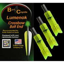 Crossbow Bolt Ends - Lumenok Easton Carbon Crescent Bolt End (3-Pack), Green