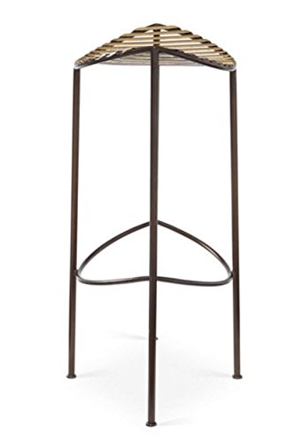 Modern Brass Bronze Half Moon Counter Stool 27'' Curved Open Iron Minimalist Gold by Global Views
