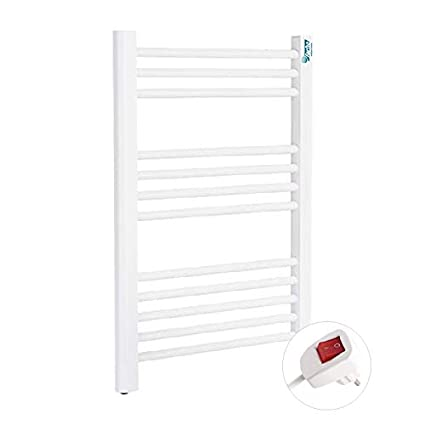 Farho - Radiador toallero eléctrico NOVA SMALL con acabado en color Blanco y con una potencia