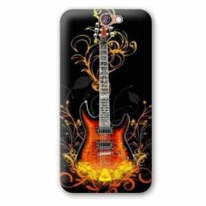 Amazon.com: Case Carcasa HTC One A9 guitare - - guitare feu ...
