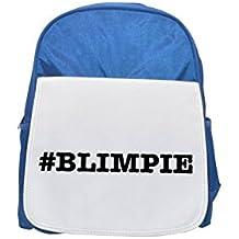 nicknames BLIMPIE nickname Hashtag printed kid's blue backpack, Cute backpacks, cute small backpacks, cute black backpack, cool black backpack, fashion backpacks, large fashion backpacks, black fashio