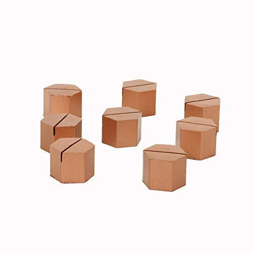 Koyal Wholesale Modern Metal Hexagon Place Card Holders, Set of 8 Copper Table Number Holders for Wedding, Bridal Shower, Rehearsal Dinner, Thanksgiving, Christmas, Dining Room Table Home - Card Holders Place Wholesale