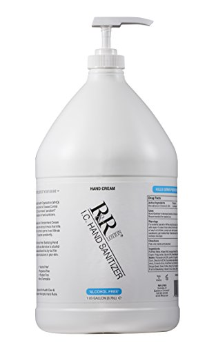 Hand Sanitizer Alcohol-Free Re-Moisturizing Cream Using BZK to Kill 99.99% of Germs Persistently. Re-moisturizes Using Sunflower & Shea Butter, 14 Botanicals and Succulents Along with VIT. 128oz