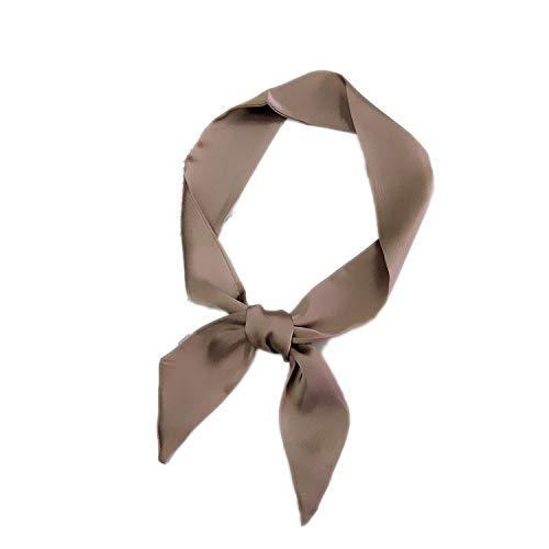 1 pc Women Winter Elegant Silk Feel Satin Silk Small Scarf Shawl Women Winter Neckerchief Head-Neck Bag Tie Hair Rope Wristband,w6 from azhuang